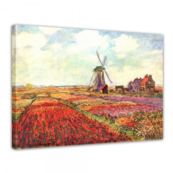 SALE Leinwandbild - Claude Monet Tulpen von Holland - 70x50 cm