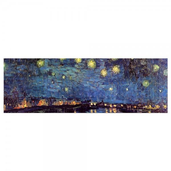 Leinwandbild - Vincent van Gogh - Sternennacht über der Rhône