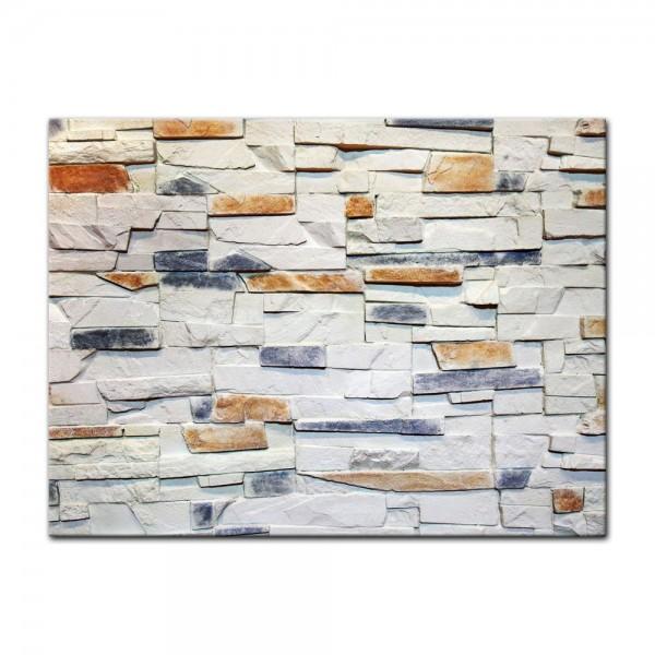 Leinwandbild - Steinmauer