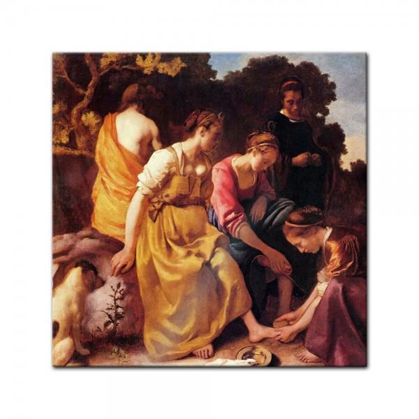 Glasbild Jan Vermeer - Alte Meister - Diana mit ihren Gefährtinnen