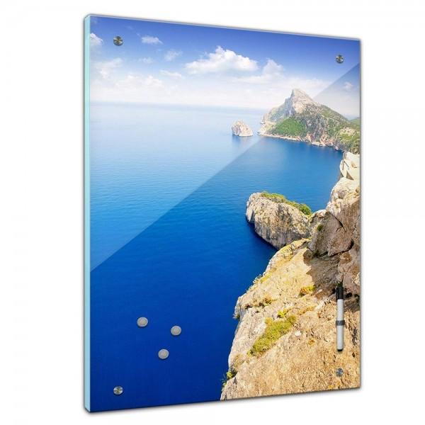 """Memoboard - Landschaft - """"Formentor Cape to Pollensa"""" - Mallorca - Spanien"""