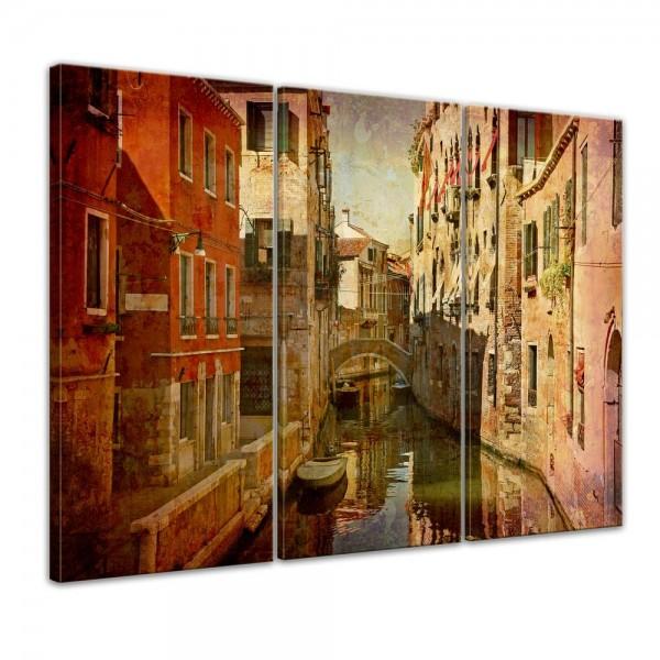 Wandbild - Venedig Urban 120x80cm - 3 teilig