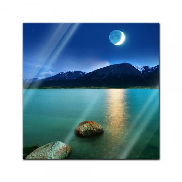 Glasbild - Mondlicht