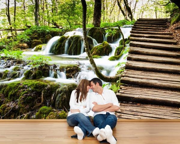 Fototapete - Wasserfall in Plitvice, Kroatien