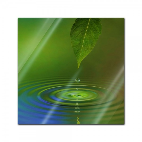 Glasbild - Waterdrop II
