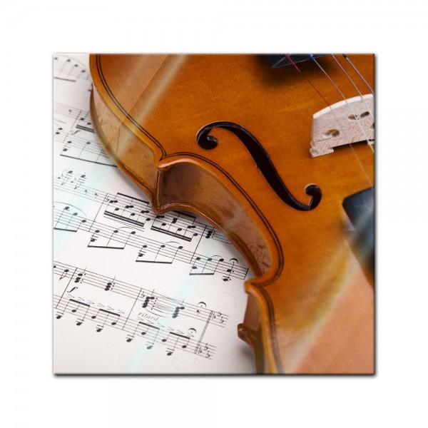 Glasbild - Violine