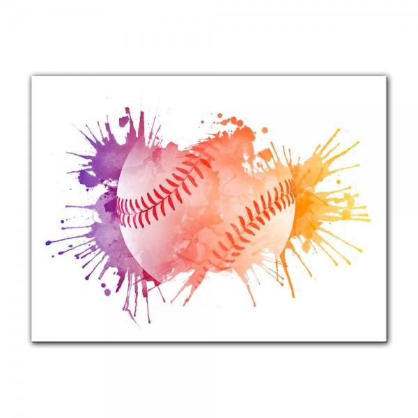 Leinwandbild - Grunge Baseball