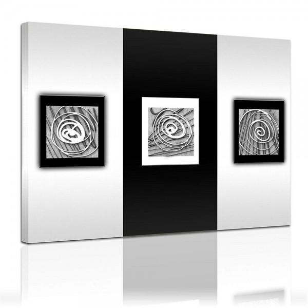 Leinwandbild - Moderne Kunst in schwarz weiss