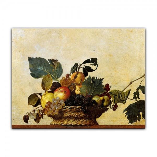 Leinwandbild - Caravaggio - Früchtekorb