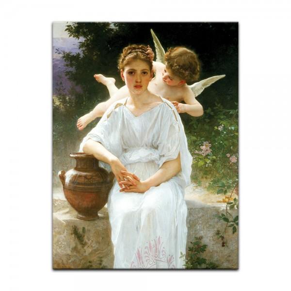 Leinwandbild - William-Adolphe Bouguereau - Flüstern der Liebe