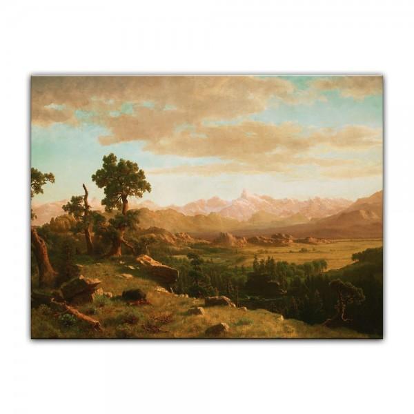 Leinwandbild - Albert Bierstadt - Wind River Country