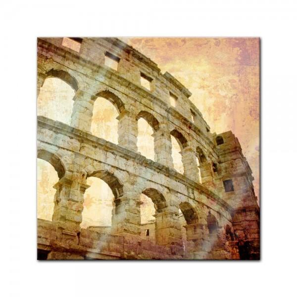 Glasbild - Colosseum in Pula - Kroatien