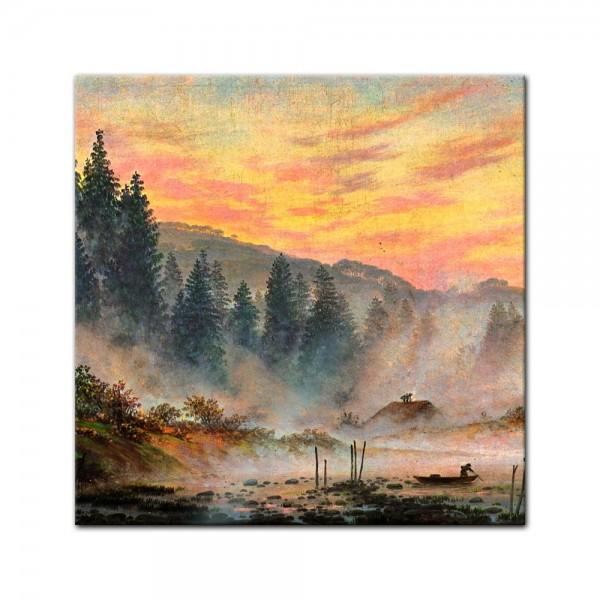 Glasbild Caspar David Friedrich - Alte Meister - Der Morgen
