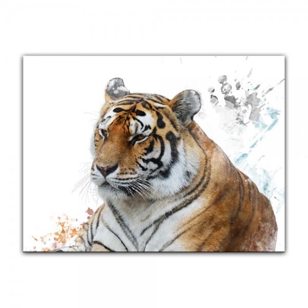 Leinwandbild - Aquarell - Tiger