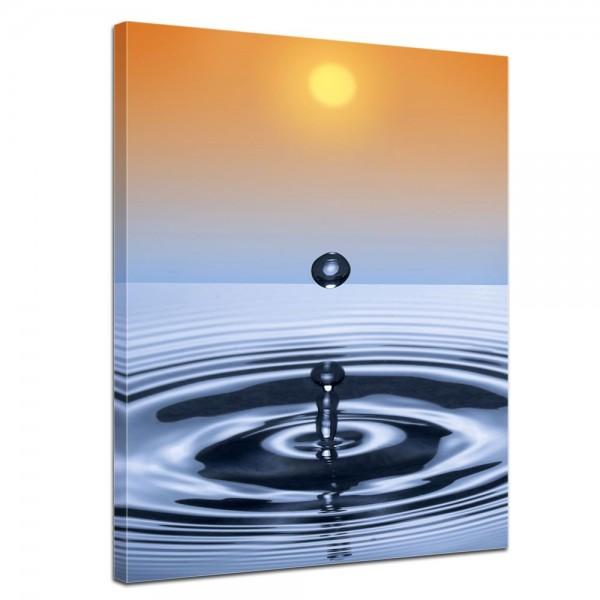 SALE Leinwandbild - Waterdrop - 50x60 cm