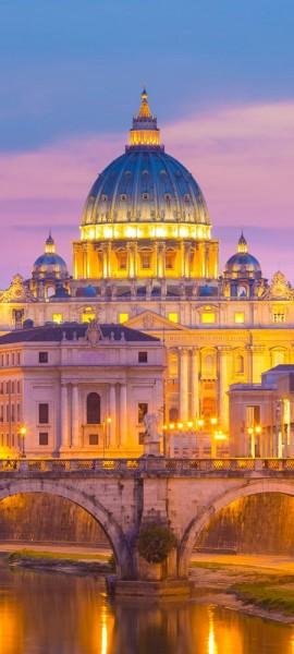 Türtapete selbstklebend St.Peters Kathedrale in Rom 90 x 200 cm Italien Europa Vatikan Basilika Pet