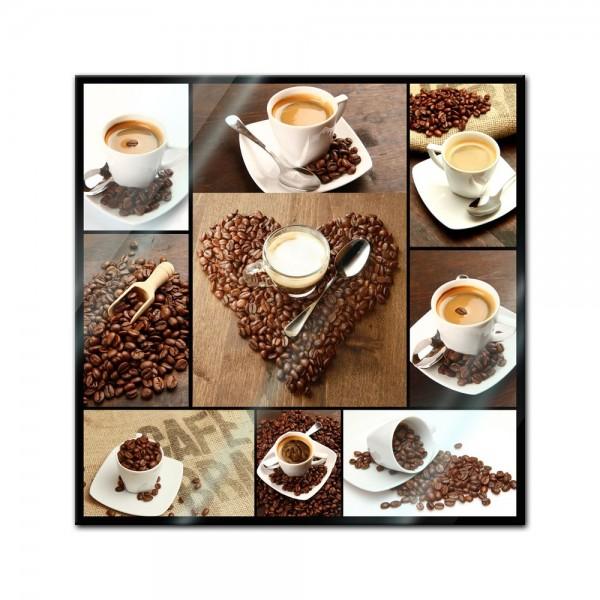 Glasbild - Kaffee Collage