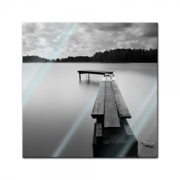 Glasbild - Steg sw