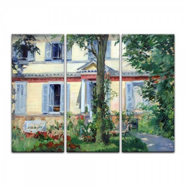 Leinwandbild - Édouard Manet - Landhaus in Rueil