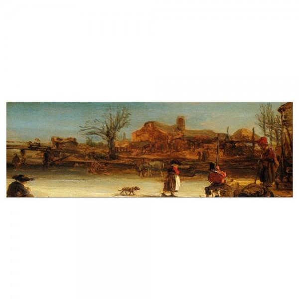 Leinwandbild - Rembrandt - Winterlandschaft