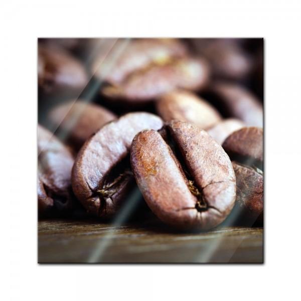 Glasbild - Kaffeebohnen II