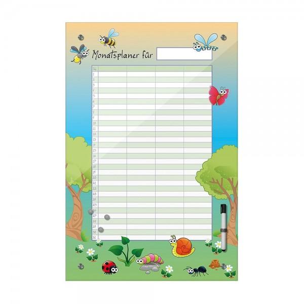 Memoboard - Monatsplaner für Kinder - Insekten