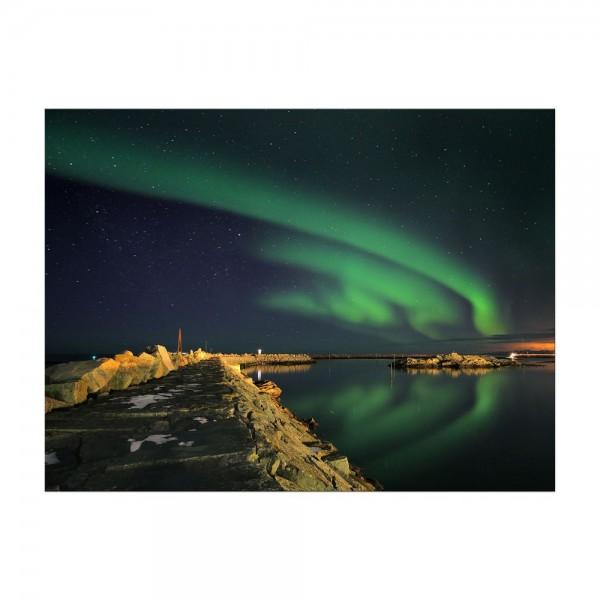 Leinwandbild - Nordlichter III in Yukon - Kanada