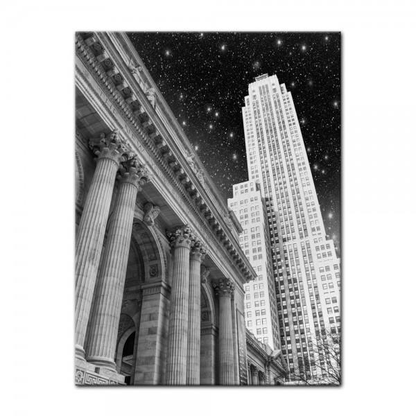 Leinwandbild - New York in der Nacht - USA