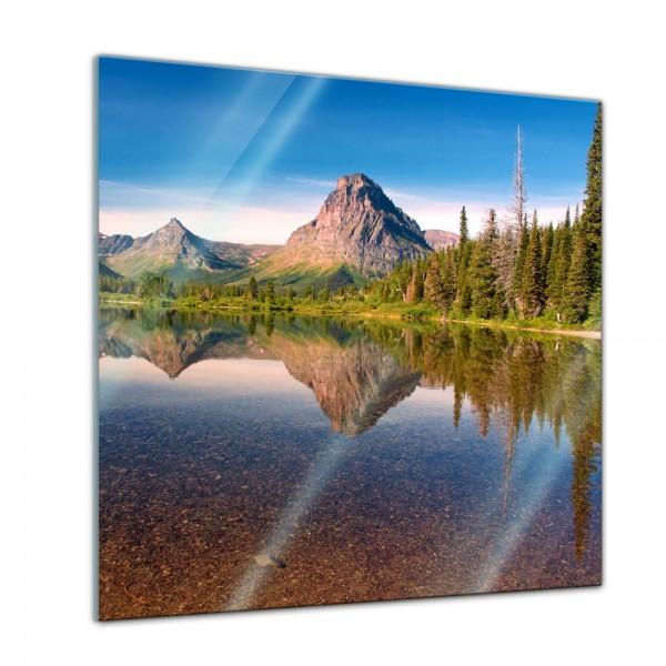 Glasbild - Reflektion am See
