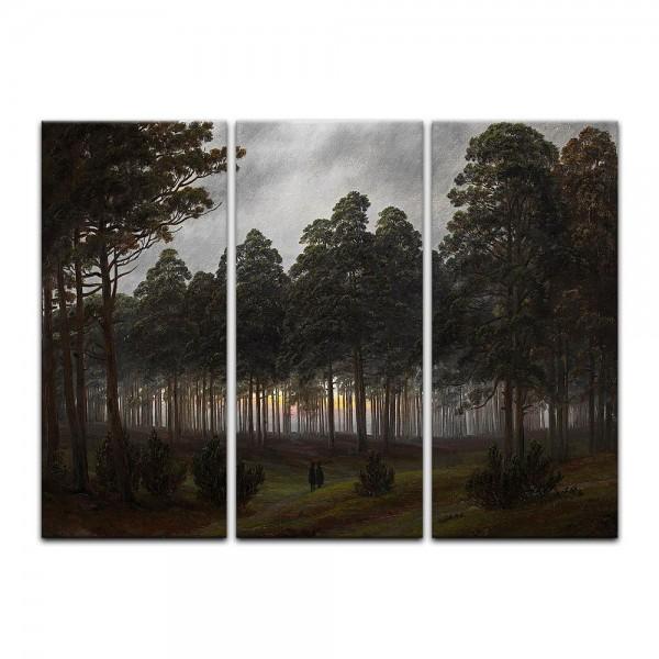 Leinwandbild - Caspar David Friedrich - Tageszeitenzyklus, Der Abend
