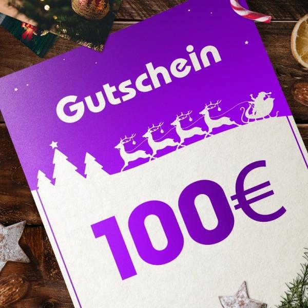 Express-Gutschein für Weihnachten über 100 EUR zum Selbstausdrucken