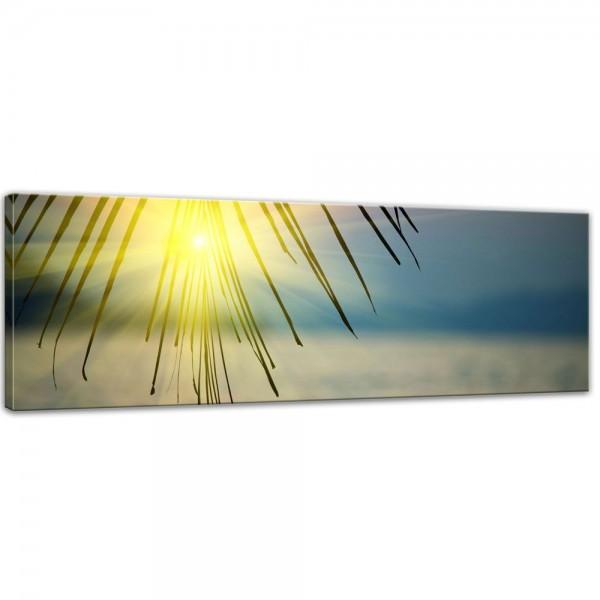 SALE Leinwandbild - Tropischer Sonnenuntergang III - 120x40 cm