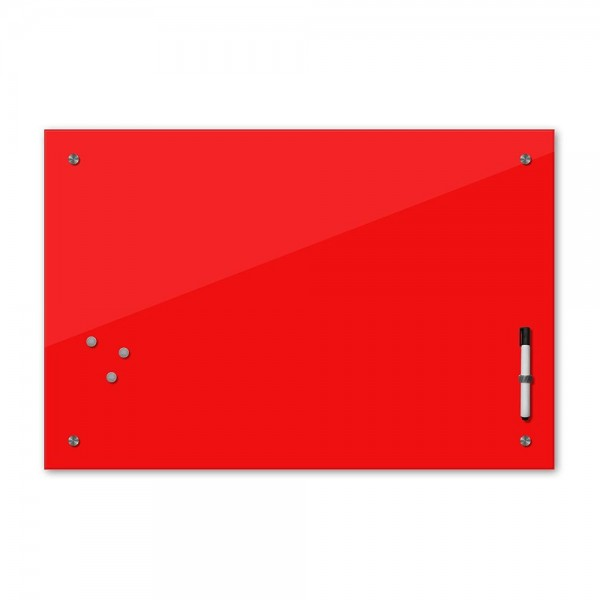Memoboard - rot - knallrot - 24 Farben