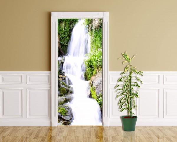 Türaufkleber - Kleiner Wasserfall