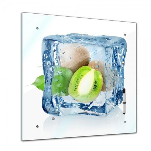 Memoboard - Essen & Trinken - Eiswürfel Kiwi - 40x40 cm