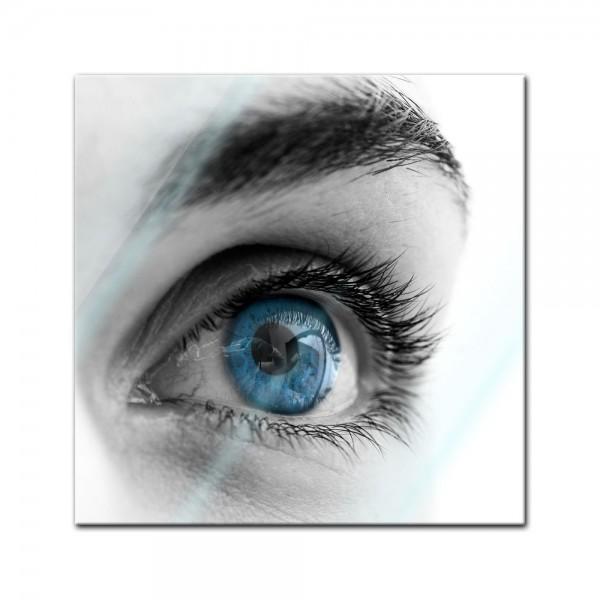 Glasbild - Auge