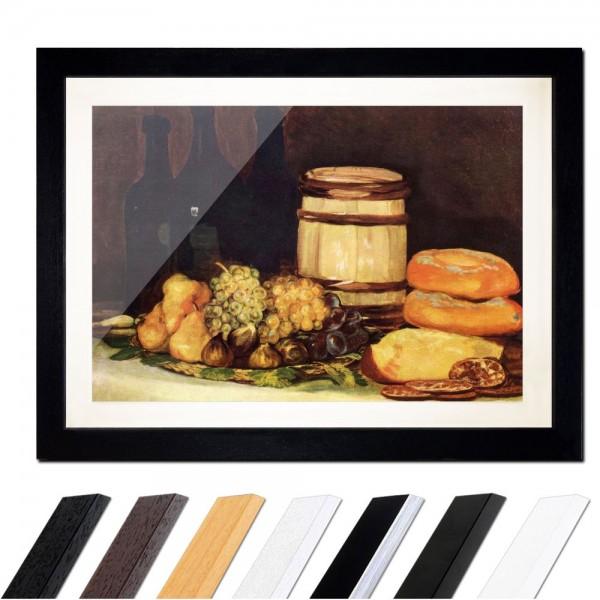 Francisco de Goya - Stillleben mit Früchten, Flaschen, Broten