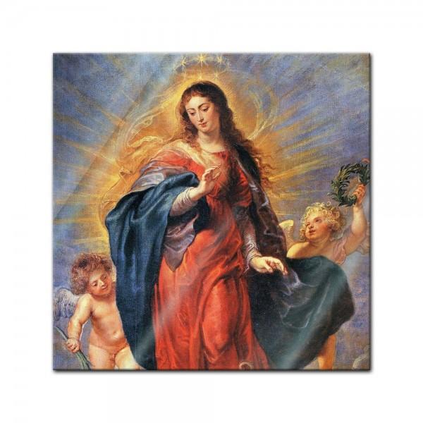 Glasbild Peter Paul Rubens - Alte Meister - Unbefleckte Empfängnis
