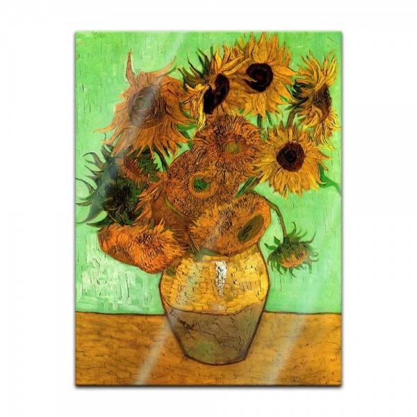 Glasbild Vincent van Gogh - Alte Meister - Zwölf Sonnenblumen