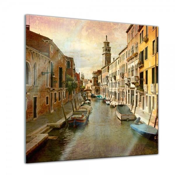 Glasbild - Venedig Grunge 2