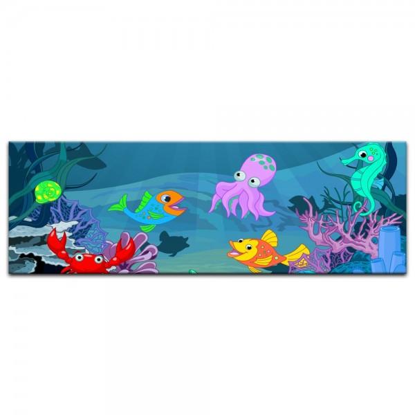 Leinwandbild - Kinderbild - Unterwasser Tiere X