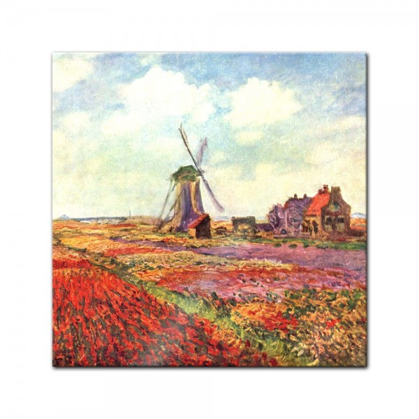Glasbild Claude Monet - Alte Meister - Tulpen von Holland