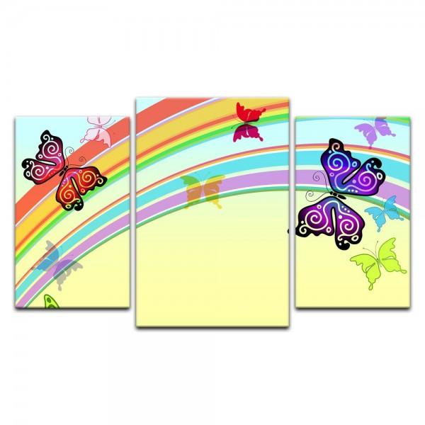 Leinwandbild - Kinderbild - Schmetterlinge