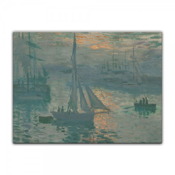 Leinwandbild - Claude Monet - Sonnenaufgang (Marine)