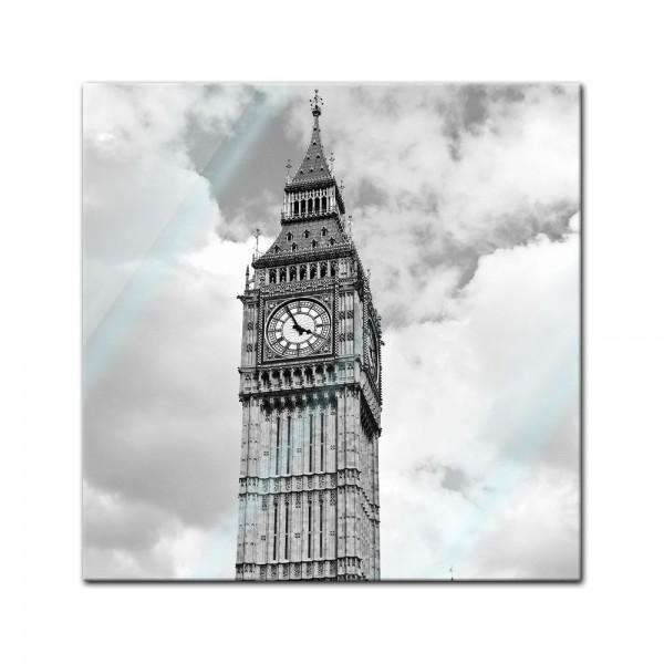 Glasbild - Big Ben London UK