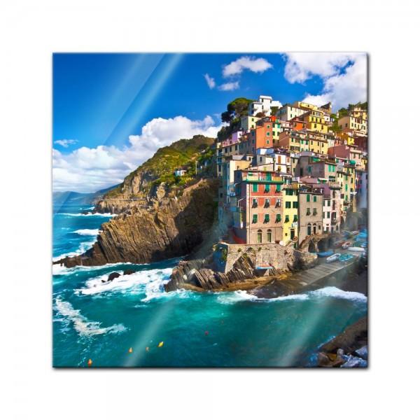 Glasbild - Riomaggiore Fischerdorf Cinque Terre I