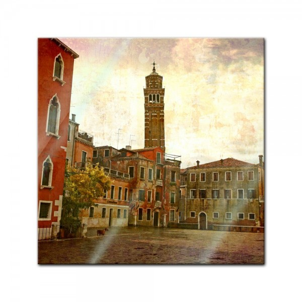 Glasbild - Venedig Grunge 3
