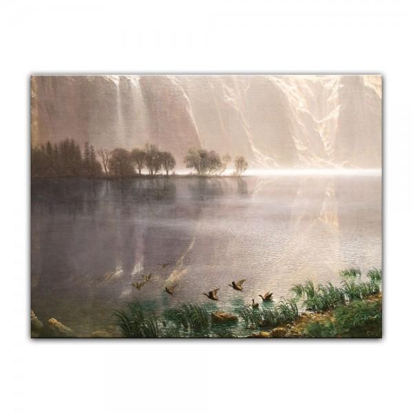 Leinwandbild - Albert Bierstadt - Among the Sierra Nevada