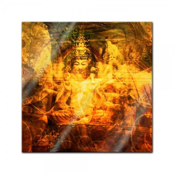 Glasbild - Buddha Urban