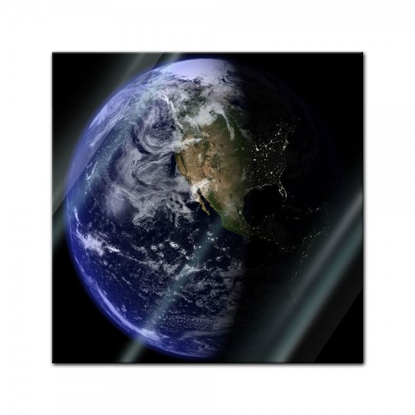 Glasbild - Erde